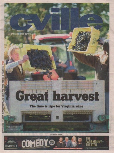 Media Scan for C-Ville Weekly- Charlottesville