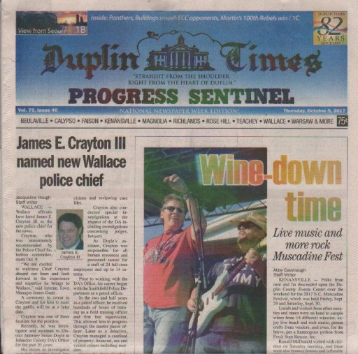 Media Scan for Kenansville Duplin-Times