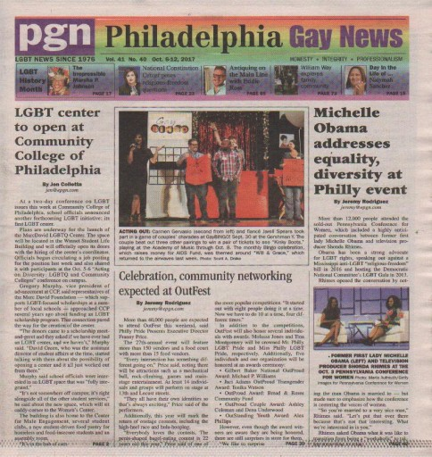 Media Scan for Philadelphia Gay News
