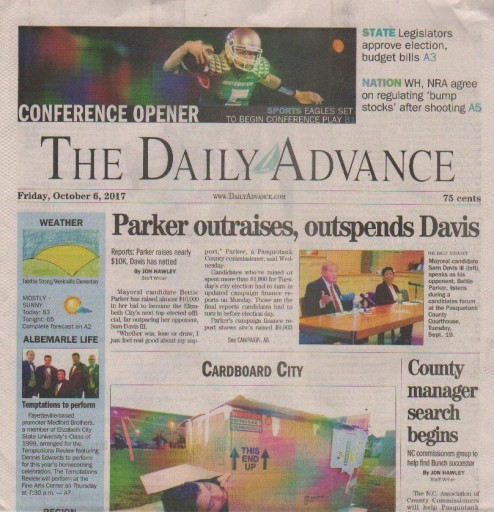 Media Scan for Elizabeth City Daily Advance