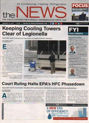 Media Scan for Air Conditioning Heating Refrigeration News