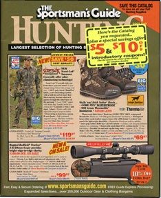 Media Scan for Sportsman's Guide Monthly Remail Blow In