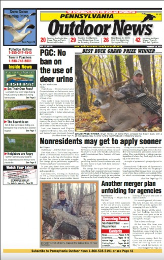 Media Scan for Pennsylvania Outdoor News