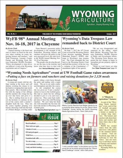 Media Scan for Wyoming Agriculture