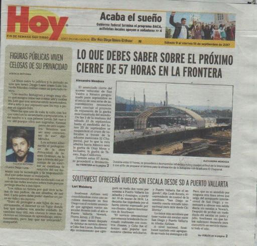 Media Scan for Hoy - San Diego