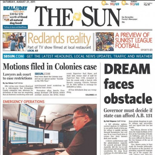 Media Scan for San Bernardino County Sun