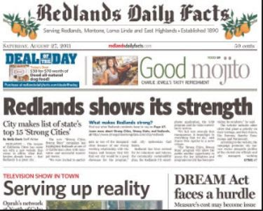 Media Scan for Redlands Daily Facts